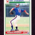 1991 Score Baseball #734 Scott Anderson RC - Montreal Expos