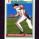 1991 Score Baseball #732 Turner Ward RC - Cleveland Indians