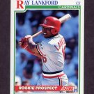 1991 Score Baseball #731 Ray Lankford - St. Louis Cardinals