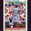 1991 Score Baseball #719 Mark Leonard RC - San Francisco Giants