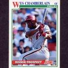 1991 Score Baseball #713 Wes Chamberlain RC - Philadelphia Phillies