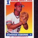 1991 Score Baseball #677 Donovan Osborne RC - St. Louis Cardinals