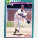 1991 Score Baseball #652 Mike LaCoss - San Francisco Giants