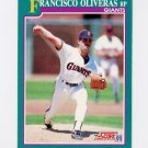 1991 Score Baseball #635 Francisco Oliveras - San Francisco Giants