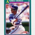 1991 Score Baseball #613 Andres Thomas - Atlanta Braves