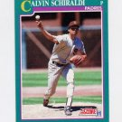1991 Score Baseball #611 Calvin Schiraldi - San Diego Padres