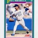 1991 Score Baseball #558 Paul Mirabella - Milwaukee Brewers