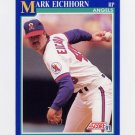 1991 Score Baseball #504 Mark Eichhorn - California Angels
