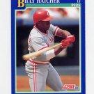 1991 Score Baseball #469 Billy Hatcher - Cincinnati Reds