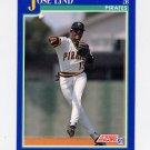 1991 Score Baseball #461 Jose Lind - Pittsburgh Pirates
