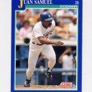 1991 Score Baseball #446 Juan Samuel - Los Angeles Dodgers