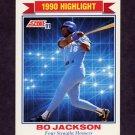 1991 Score Baseball #420 Bo Jackson HL - Kansas City Royals