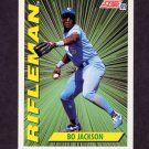 1991 Score Baseball #412 Bo Jackson RIF - Kansas City Royals