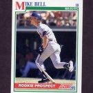 1991 Score Baseball #375 Mike Bell RC - Atlanta Braves