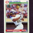 1991 Score Baseball #346 Ozzie Canseco - Oakland A's