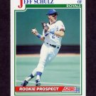 1991 Score Baseball #336 Jeff Schulz RC - Kansas City Royals