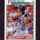1991 Score Baseball #332 Pedro Munoz RC - Minnesota Twins