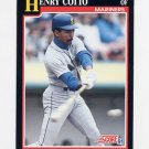 1991 Score Baseball #282 Henry Cotto - Seattle Mariners