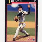 1991 Score Baseball #255 Ted Power - Pittsburgh Pirates