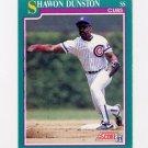1991 Score Baseball #201 Shawon Dunston - Chicago Cubs