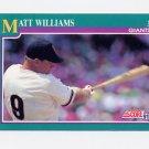 1991 Score Baseball #189 Matt Williams - San Francisco Giants