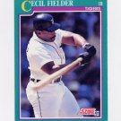 1991 Score Baseball #168 Cecil Fielder - Detroit Tigers