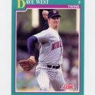 1991 Score Baseball #158 Dave West - Minnesota Twins