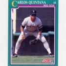 1991 Score Baseball #149 Carlos Quintana - Boston Red Sox