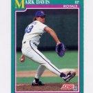1991 Score Baseball #136 Mark Davis - Kansas City Royals