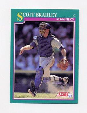 1991 Score Baseball #113 Scott Bradley - Seattle Mariners