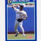1991 Score Baseball #107 Darryl Hamilton - Milwaukee Brewers