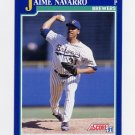 1991 Score Baseball #102 Jaime Navarro - Milwaukee Brewers