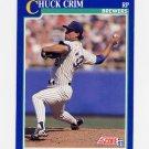 1991 Score Baseball #099 Chuck Crim - Milwaukee Brewers