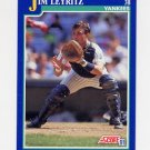 1991 Score Baseball #065 Jim Leyritz - New York Yankees