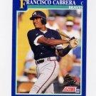 1991 Score Baseball #063 Francisco Cabrera - Atlanta Braves