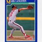 1991 Score Baseball #021 Mark Langston - California Angels