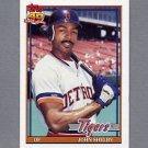 1991 Topps Baseball #746 John Shelby - Detroit Tigers