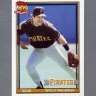1991 Topps Baseball #722 Wally Backman - Pittsburgh Pirates