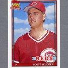 1991 Topps Baseball #713 Scott Scudder - Cincinnati Reds