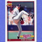 1991 Topps Baseball #698 Mark Guthrie - Minnesota Twins