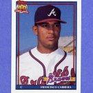 1991 Topps Baseball #693 Francisco Cabrera - Atlanta Braves