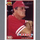 1991 Topps Baseball #669 Lou Piniella MG - Cincinnati Reds
