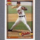 1991 Topps Baseball #653 Anthony Telford RC - Baltimore Orioles