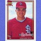 1991 Topps Baseball #636 Geronimo Pena - St. Louis Cardinals