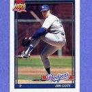 1991 Topps Baseball #606 Jim Gott - Los Angeles Dodgers