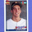 1991 Topps Baseball #596 Ronnie Walden RC - Los Angeles Dodgers