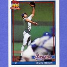 1991 Topps Baseball #584 Kevin Brown - Texas Rangers