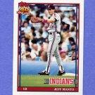 1991 Topps Baseball #488 Jeff Manto - Cleveland Indians