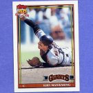 1991 Topps Baseball #472 Kirt Manwaring - San Francisco Giants