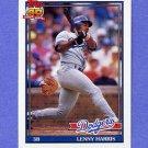 1991 Topps Baseball #453 Lenny Harris - Los Angeles Dodgers NM-M